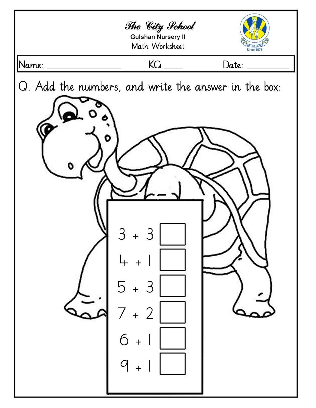 Sr Gulshan The City Nursery Ii Urdu English Math Worksheets