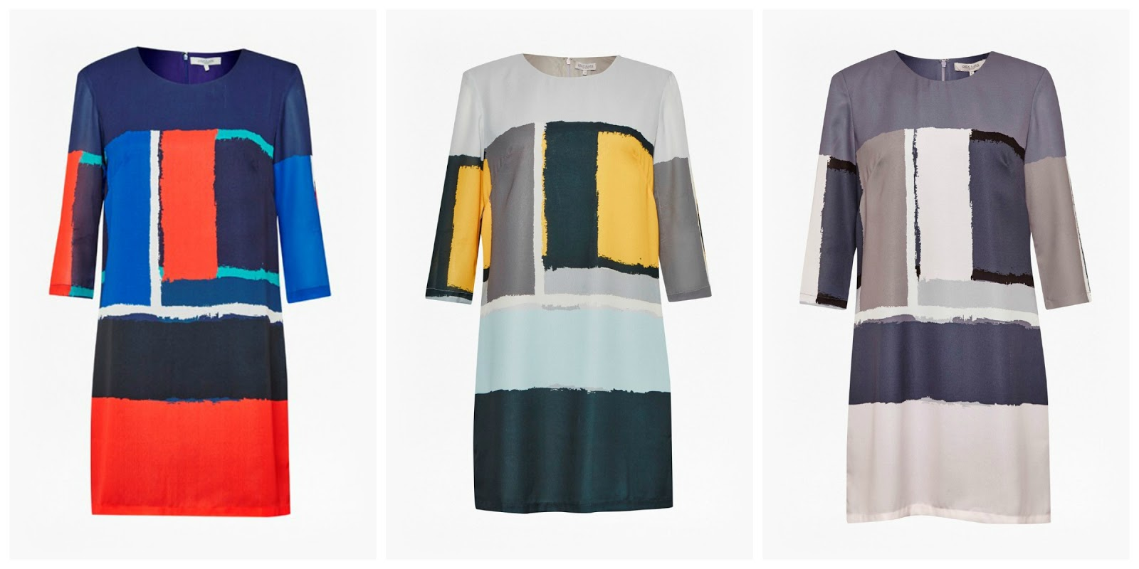 Great Plains Art Class Colourblock shift dress, What Lizzy Loves