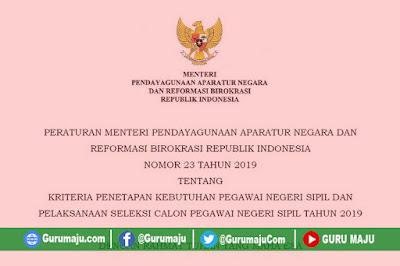 Peraturan Menteri PANRB No 23 Tahun 2019