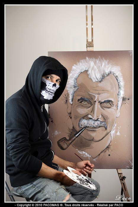 Paco et son Portrait de Georges Brassens