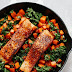 Spicy Salmon Sweet Potato Skillet