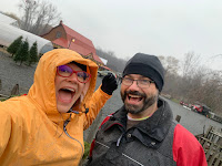 Sera in IllumiNITE Colorado Waterproof Rain Jacket;  3-in-1 Mitten; Mike in  Skull Cap; Ascent Parka