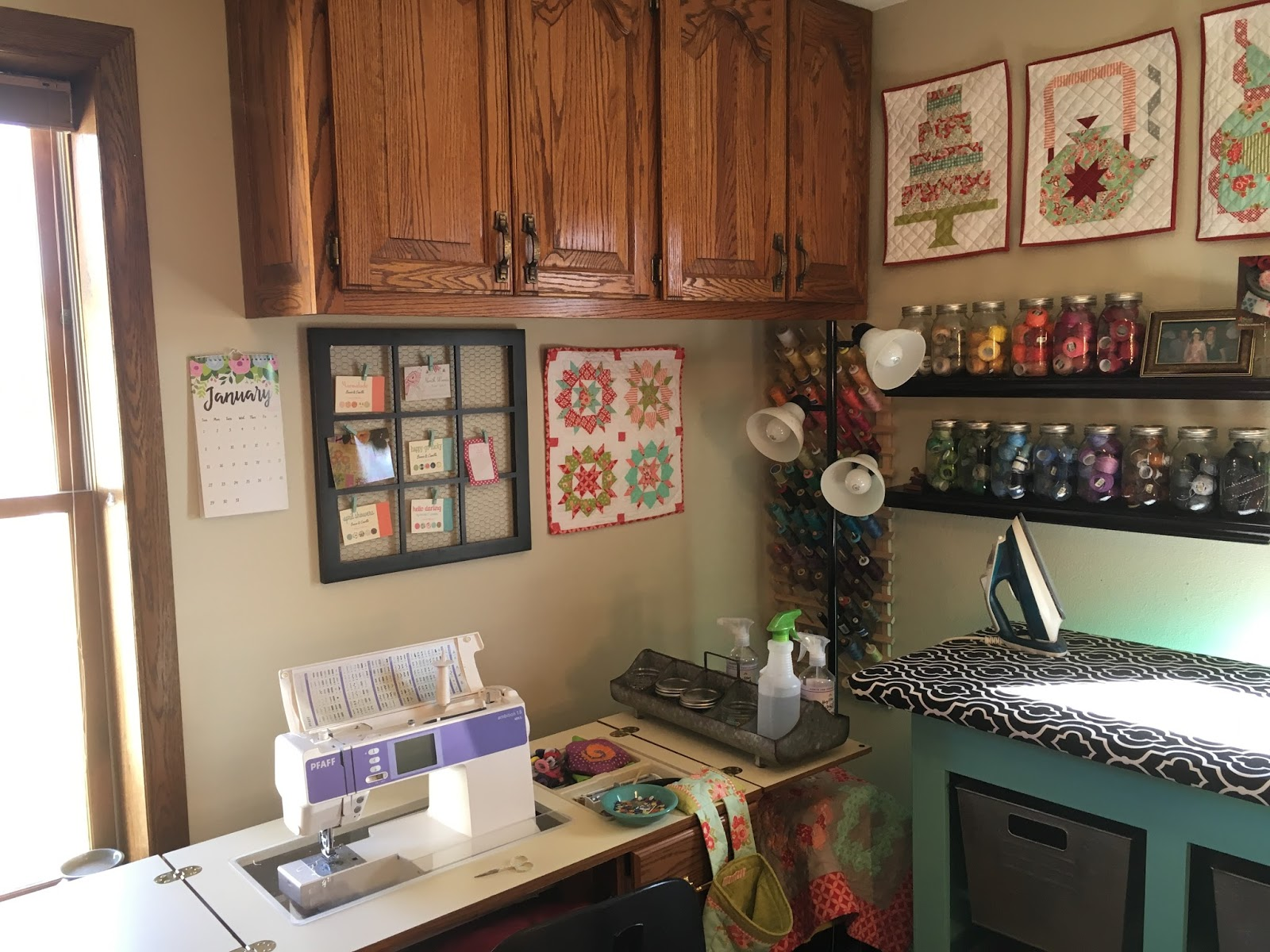 Tanya Quilts In Co Sewing Room Update