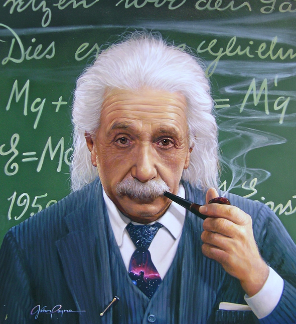 John Payne - American painter | Albert Einstein 1879-1955