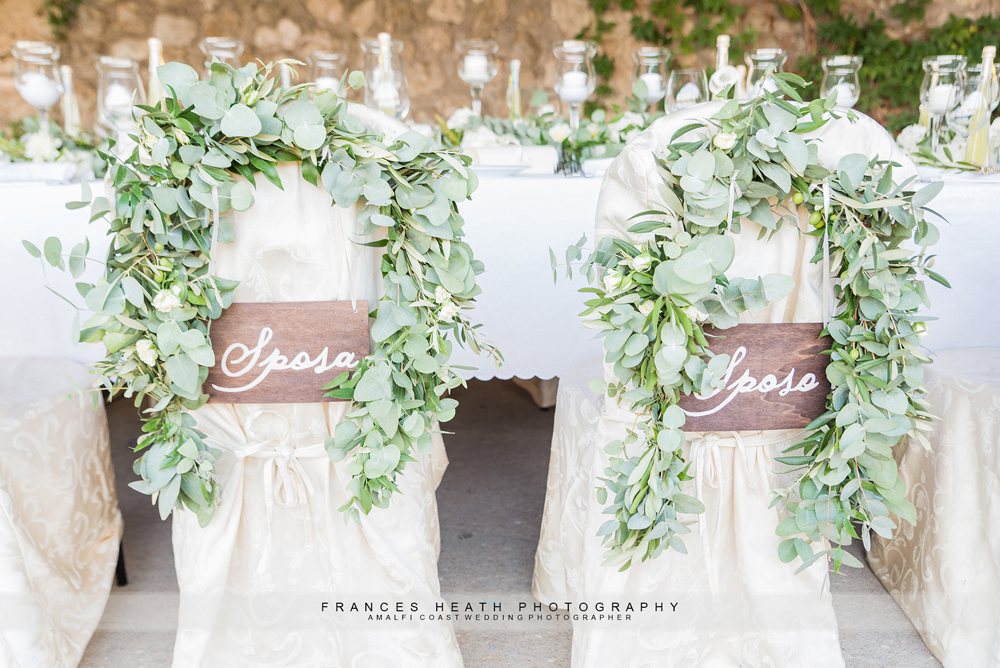 Sposa and Sposo signs