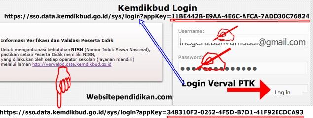 Cara Mudah Login di vervalptk.data.kemdikbud.go.id