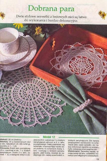 Dos modelos de hermosas carpetas tejidas