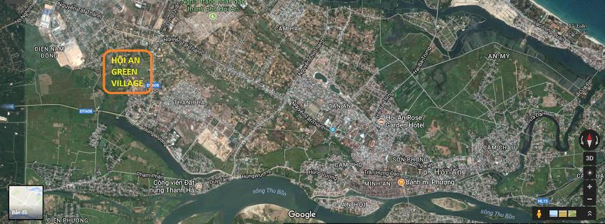 Vị trí đắt địa Phố chợ Lai Nghi - Hoi An Green Village