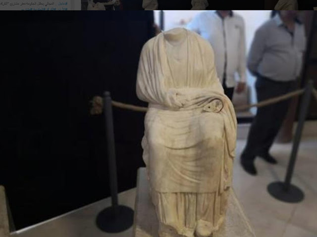 Unearthed Graeco-Roman statues unveiled in Jerash