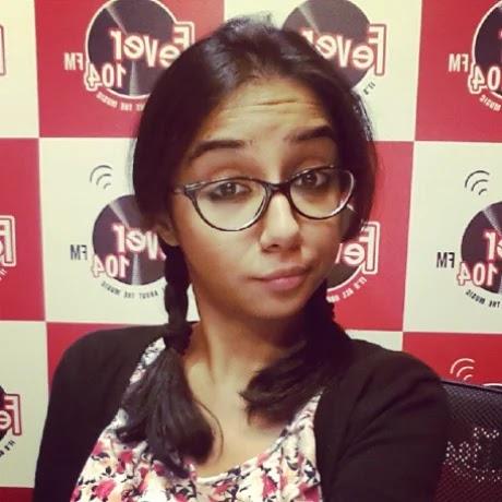 Prajakta Koli old photo at Radio Jockey