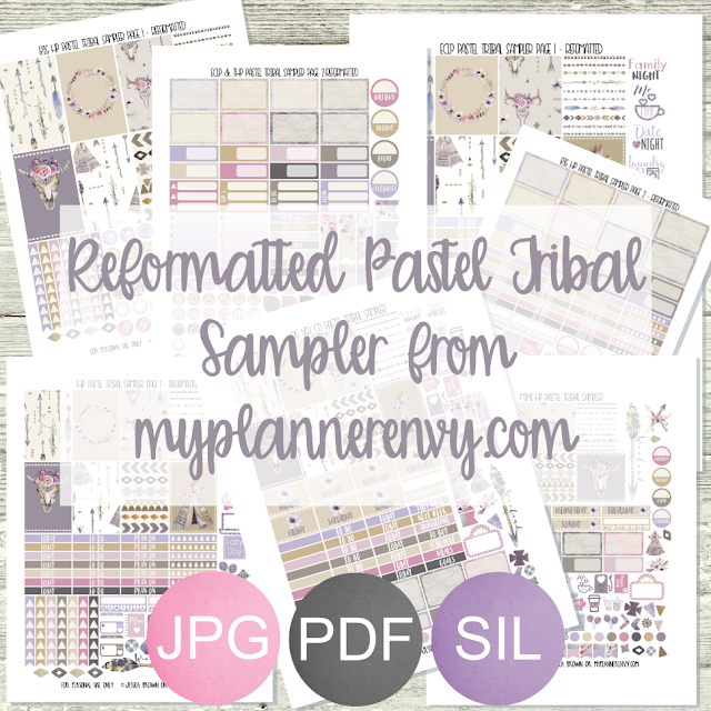 Free Printable Reformatted Pastel Tribal Sampler from myplannerenvy.com