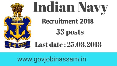 Indian Navy Recruitment 2018,govjobinassam