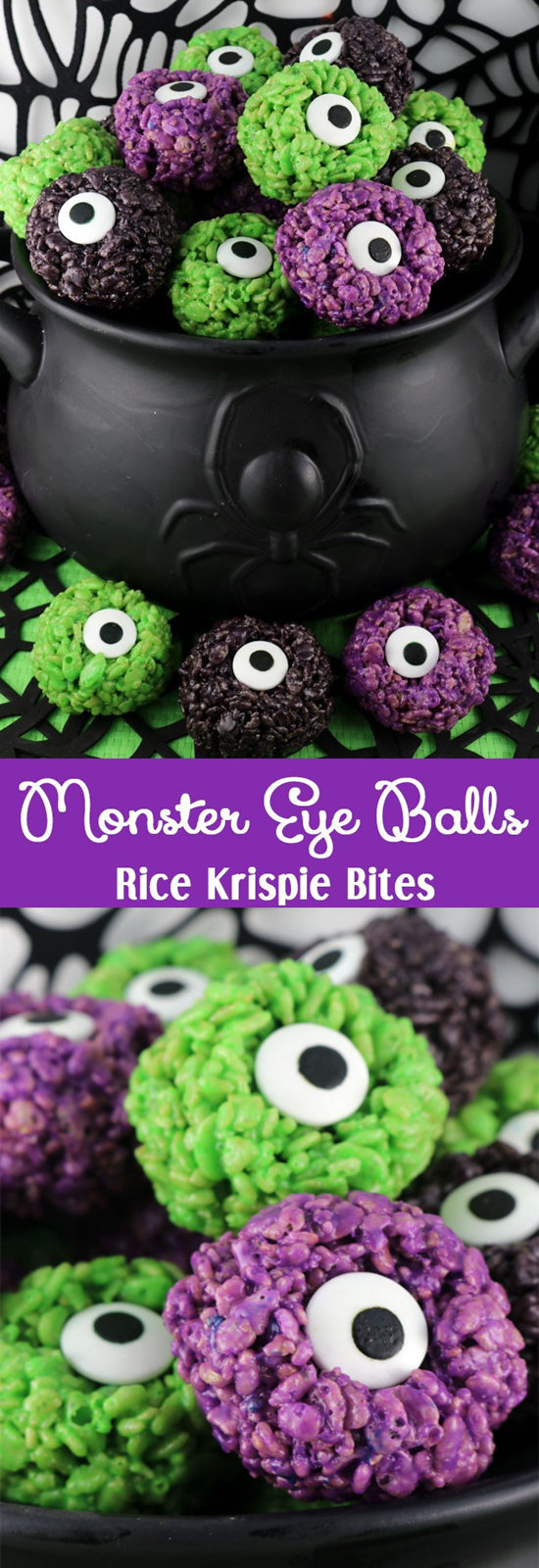 Monster Eye Ball Rice Krispie Bites