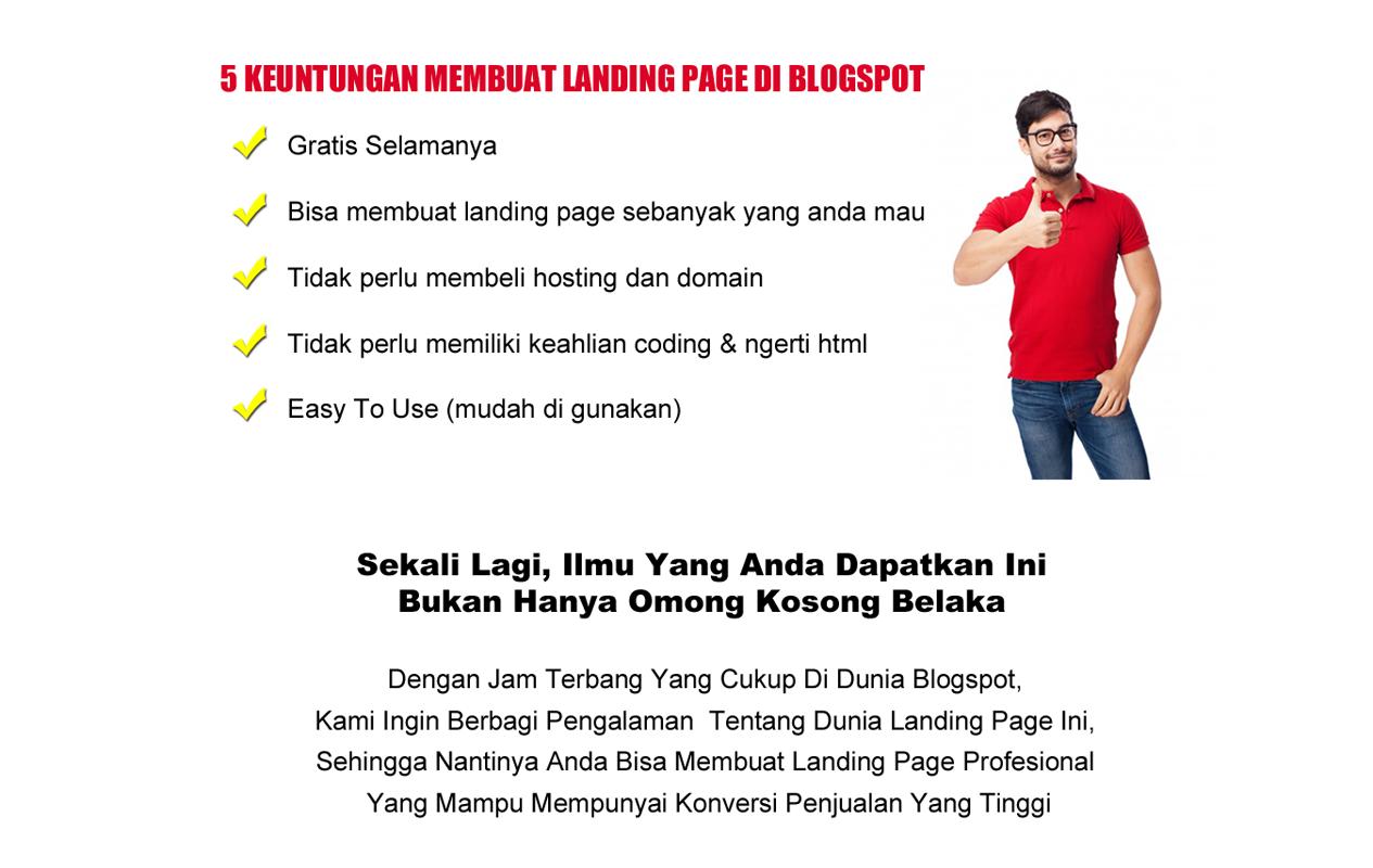 Cara Mudah Dalam 7 Jam Mahir Landing Page Di Blogspot
