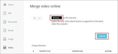 Cara Menggabungkan Video Secara Online di Aconvert