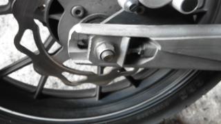 Gambar nut roda tayar belakang motor