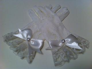 kırık beyaz dantel eldiven satın al nikah eldiveni