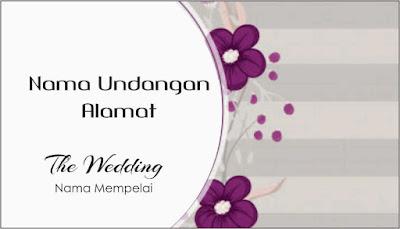 Label Undangan Pernikahan Unik