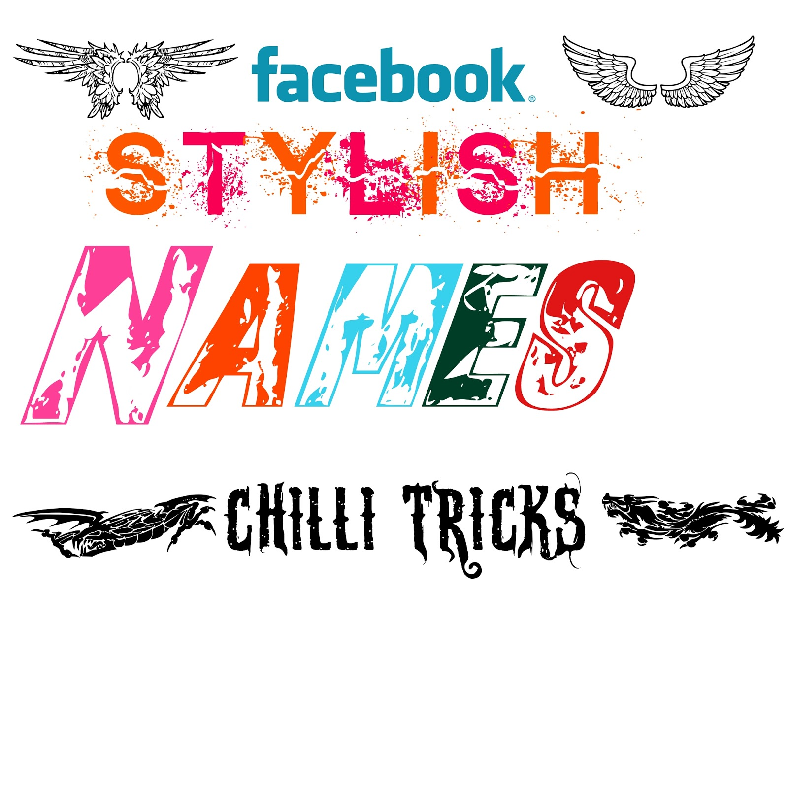 All Facebook Stylish Names Collection Chilli Tricks