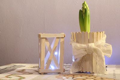 świecznik i doniczka