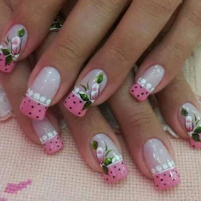 decoração de unhas faceis de fazer unhas em tons de rosa
