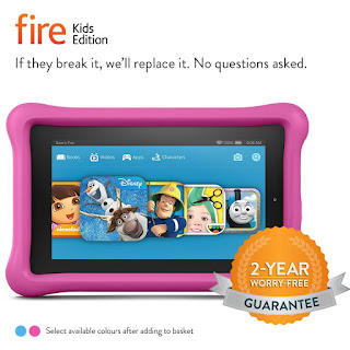 only today £69.99 Fire Kids Edition Tablet 7″ Display Wi-Fi 16GB Pink Kid-Proof Case