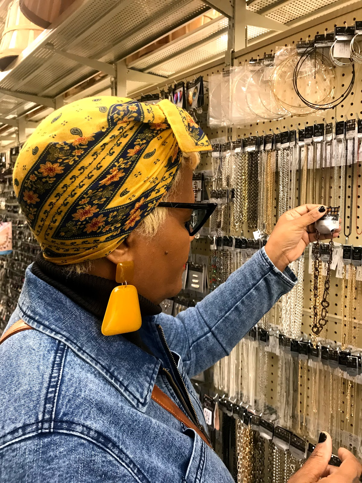 Browsing the jewelry section at the craft store. Looking for jewelry ideas