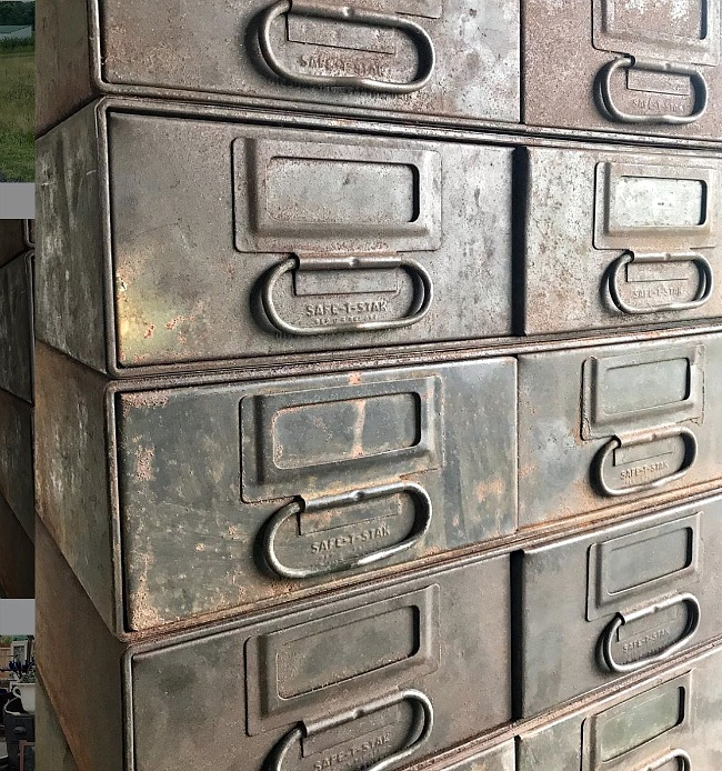 Industrial metal storage drawers