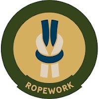 Ropework trail badge