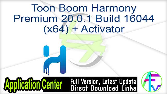 Toon Boom Harmony Premium 20.0.1 Build 16044 (x64) + Activator