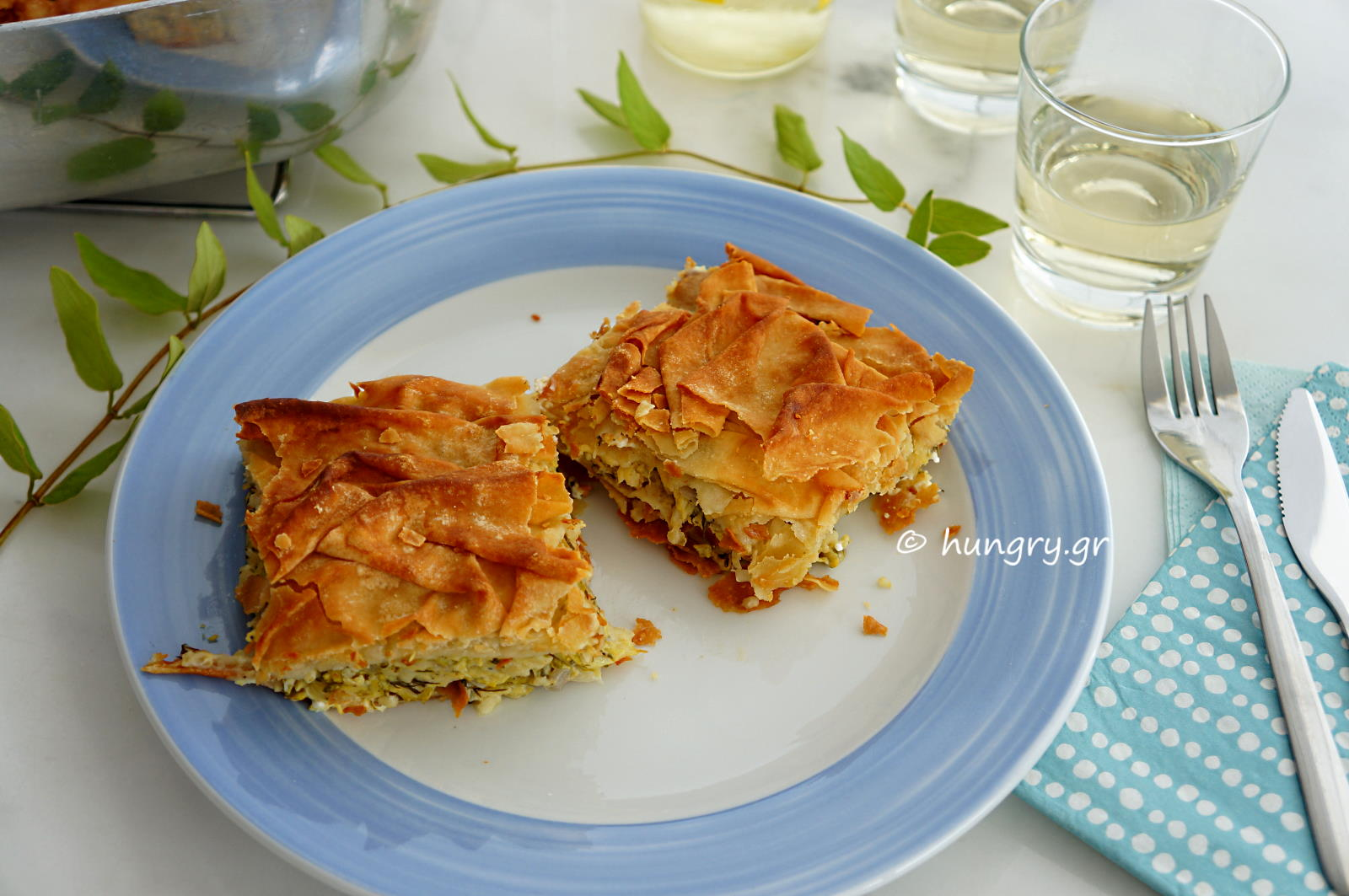 Zucchini Pie with Frumenty & Feta Cheese