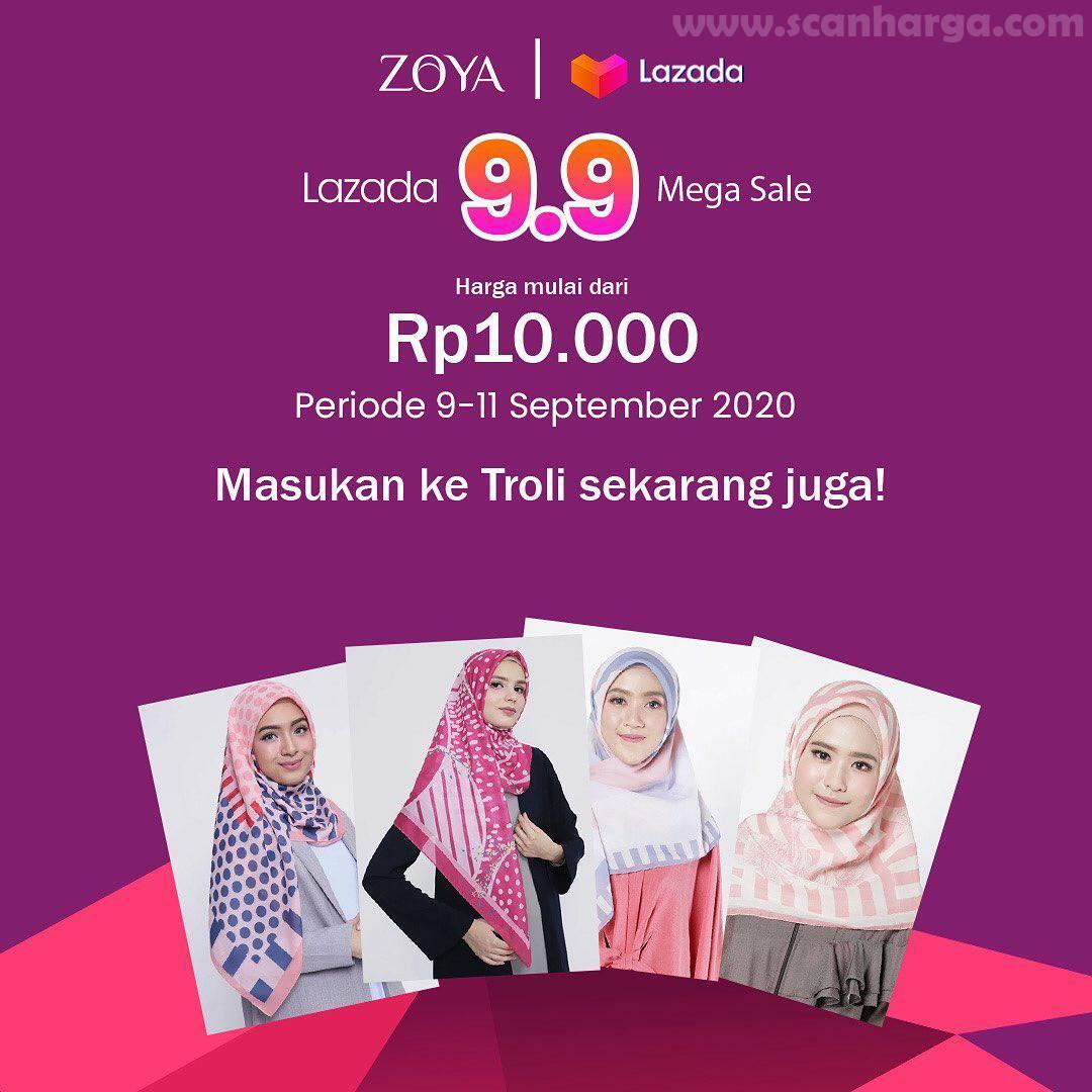 ZOYA Promo Lazada 9.9 MEGA SALE Harga Mulai Rp 10.000 Periode 9 - 11 September 2020