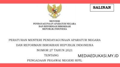 PermenpanRB Nomor 27 Tahun 2021 tentang Pengadaan PNS