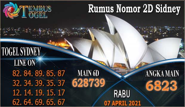 Rumus Nomor 2D Sidney, Rabu Tanggal 07 April 2021