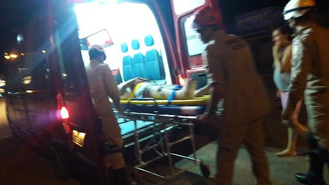Em Itaituba: Acidente  envolvendo carro e moto deixa uma pessoa ferida no bairro bela Vista.