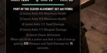 Best PVP Stamina Crafted Set - Clever Alchemist