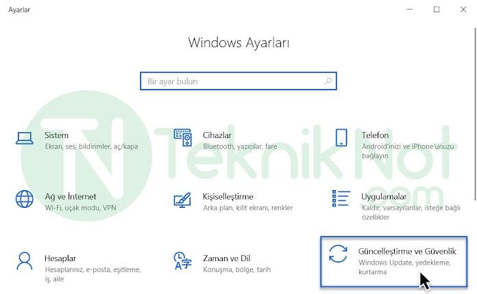 Windows 10 Otomatik Güncellemeleri Kapatma