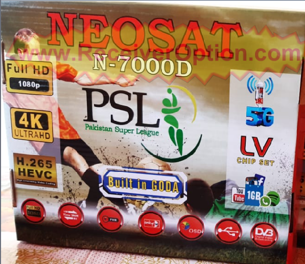 NEOSAT N-7000D SIM TYPE 1506LV 1G 8M NEW SOFTWARE WITH DOLBY SOUND OK