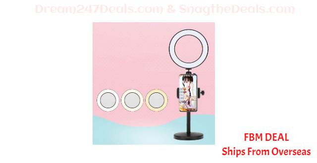 80%  off LED Dimmable Beauty Selfie Ring