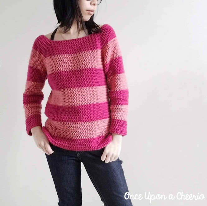 Cheshire Dreams Raglan Sweater FREE Crochet Pattern