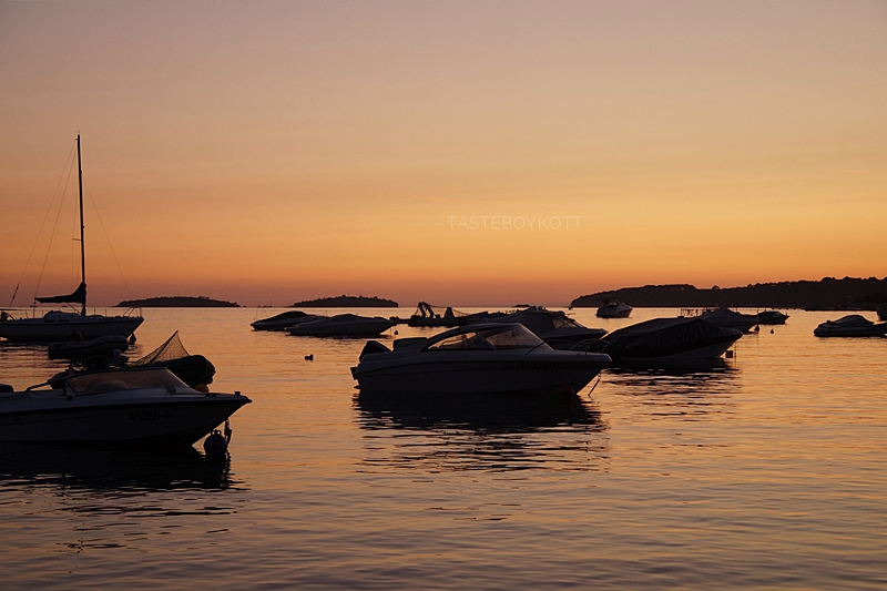 Kroatien Hafen Meer Abendhimmel Sonnenuntergang Nacht Natur Fotografie