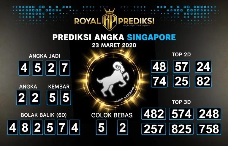 Prediksi SGP Hari Ini Senin 23 Maret 2020 - Prediksi Angka Singapore
