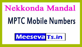 Nekkonda Mandal MPTC Mobile Numbers List Warangal District in Telangana State