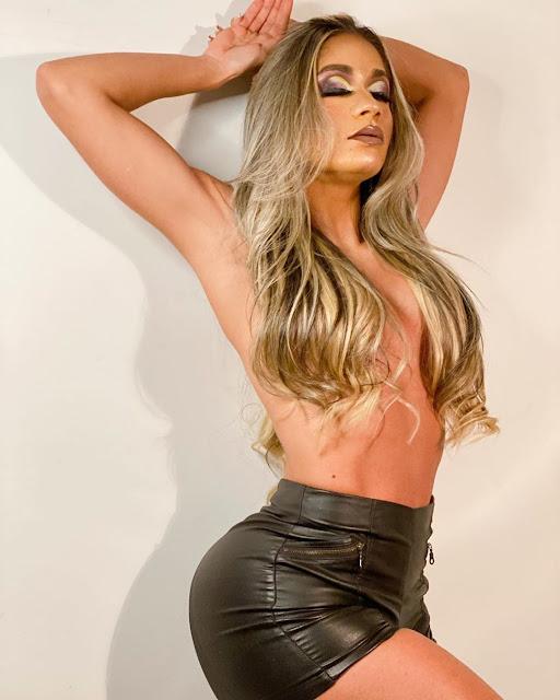Modelo e musa fitness Nayara Azevedo e transformada em drag queen
