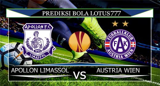 PREDIKSI APOLLON LIMASSOL VS AUSTRIA WIEN 16 AGUSTUS 2019