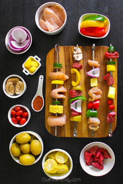 How to Host a Grilling Kabob Bar