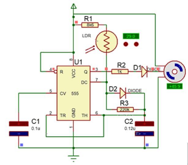 Implementasi Sensor LDR dengan Motor Servo