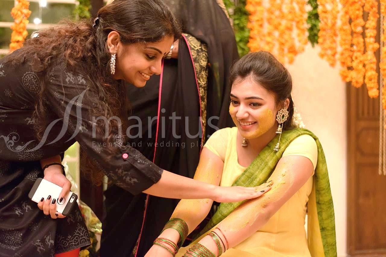 Jyothika Mehndi Ceremony : Wonderful traditional muslim wedding of nazriya and fahad indian