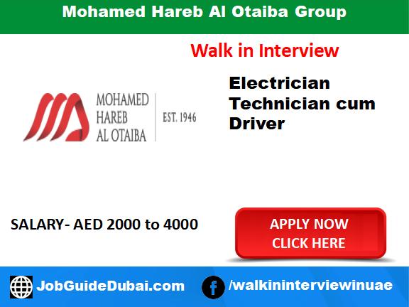 Mohamed Hareb Al Otaiba Group career for Electrical technician cun driver job in Dubai