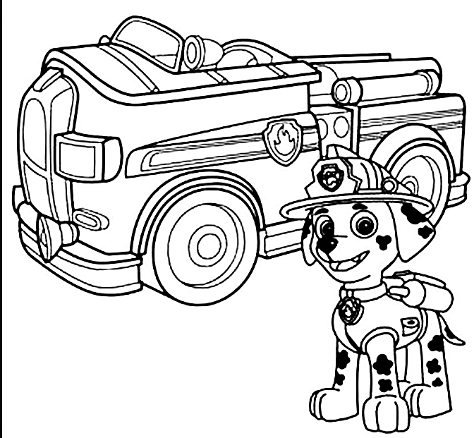 paw patrol coloring pages game - photo#19